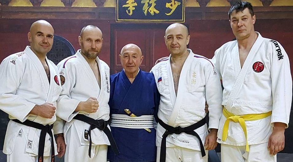 With Giacomo Spartaco Bertoletti 10 Dan. Seminar in Moscow 26.11.2016.