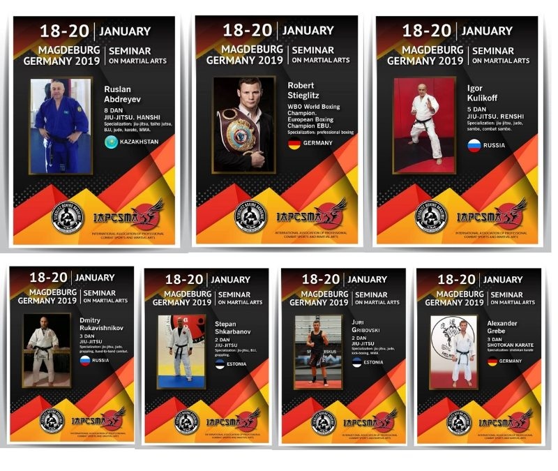 18-20 Januar. Magdeburg, Germany 2019. Seminar on Martial Arts
